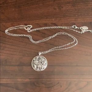 LOFT reversible long silver pendant